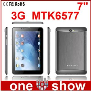 7 Polegada MTK6577 Bluetooth SPG Tablet 2G e 3G DUPLO SIM Dual Standby Dual Core Tablet (so-M77)
