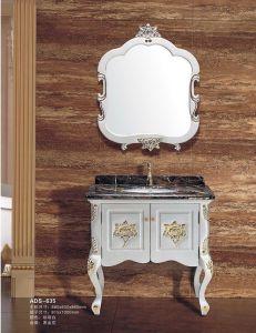Casa de Banho de mobiliário em madeira maciça vaidade de lavagem (ADS-635)