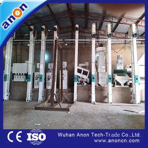 Anon Paddy neumático automático Descascaradora de molino de arroz de la línea de producción