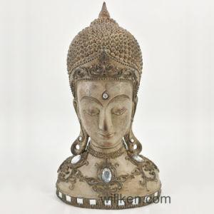 Décoration intérieure de la tête de la résine de statues de Bouddha