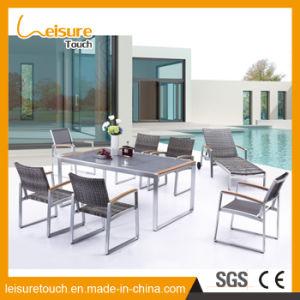 Anticorrosivo impermeable rectángulo moderno Hotel Home Silla de Comedor mesa de jardín Muebles Ocio