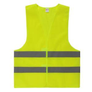 Тельняшка безопасности дешевого желтого цвета отражательная