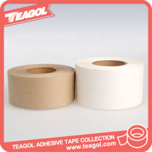 Water-Activated recubierto de papel Kraft reforzado engomado Tape, Cinta