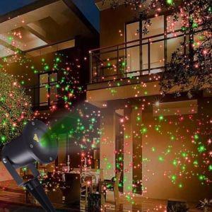 Rotes u. grünes Laser-im Freienlicht
