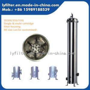 Style de bride sanitaire Logement du filtre à eau en acier inoxydable micro pour le PP du filtre à cartouches de filtre