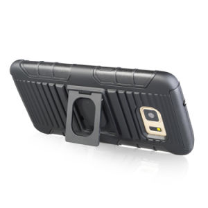 2018新しいArrrivalのリングのKickstandのホルスターのSamsung S7の端のケースのためのコンボの携帯電話の箱