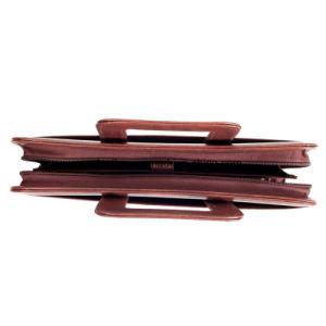 ハンドルが付いている浮彫りになる革オルガナイザーのPadfolioのポートフォリオの会議のホールダー