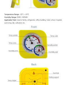 Diagrama de cocción de alimentos cárnicos Digital de clínica mecánica Termómetro higrómetro marcar