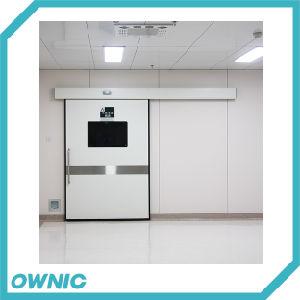 Hospital de la placa de revestimiento de polvo hermético puerta deslizante con la placa protectora de acero inoxidable