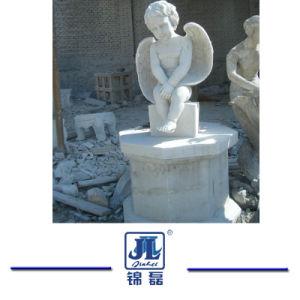 庭の装飾のための大理石の小さい天使の彫像の石、大理石の彫刻または景色