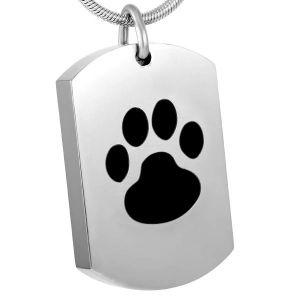 De Juwelen van de Crematie van het roestvrij staal voor de Tegenhanger van de Markering van de Hond van de Vorm van de Rechthoek van de As