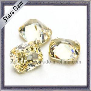 Zirconia cúbico del color amarillo del diamante del amortiguador