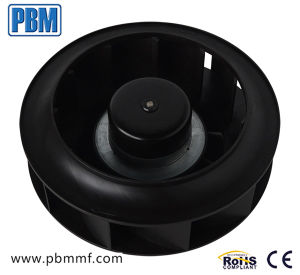 220mm 230V CE externo sem escovas para trás de plástico do motor do rotor do ventilador centrífugo curvos