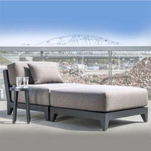 Modular de alumínio para exterior moderno meio Armless Sofá Unidade Central