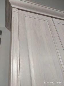 Armário de cozinha branca de madeira maciça