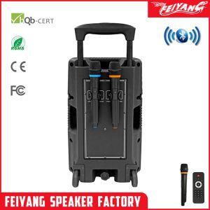 Bateria Temeisheng Feiyang Carrinho Portátil de alto-falante Alto-falante, carrinho de karaoke, conexão wireless de alto-falante F12-8 do alto-falante