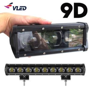 LEIDENE van de Lampen van de Auto van de Lens van de Projector van de Schijnwerper van de Rij van Ce EMC 9d Enige Auto Lichte Staaf Lightbar voor Offroad Vrachtwagen