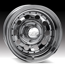 リベットが付いている16X10 (6-139.7)クロムモジュラー鋼鉄車輪