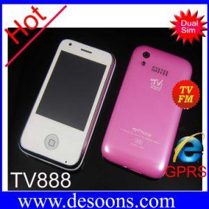 Mini carte della fascia due SIM del quadrato del telefono TV888 TV