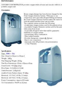 Concentrador do oxigênio (BM-9901)