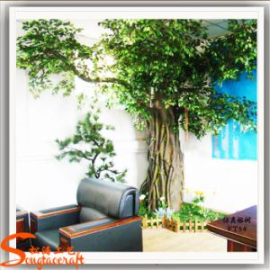 Decoração Banyan Artificial Ficus Tree