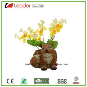 De decoratieve Potten van de Bloem Polyresin met het Standbeeld van de Eekhoorn voor de Decoratie van de Tuin