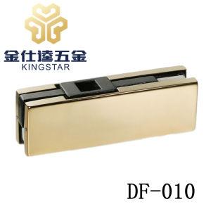 DF-010 fondo de vidrio de acero inoxidable parche inferior de la colocación de accesorios de la puerta de cristal sin cerco