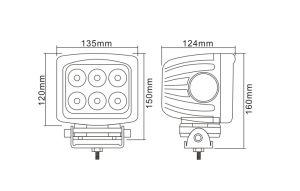 60W светодиодный индикатор рабочего освещения индикатор дальнего света фар 5 дюйма