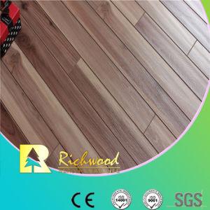 E0 de 12,3 mm de HDF AC4 pisos laminados de madera de nogal con relieve