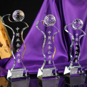 Nuevo diseño de cristal el Trofeo de Golf para practicar deportes