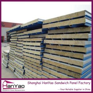 L'acier ignifugé composite sandwich panneaux muraux de laine de roche volet