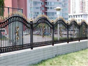 Alta calidad con recubrimiento de polvo ornamentales cercas/cerca de casa de seguridad