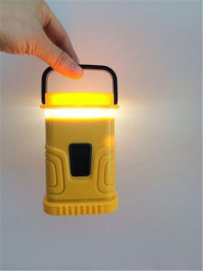 ABS 3* AA乾電池のランタン、3つのLEDの極度の明るい折るキャンプライト