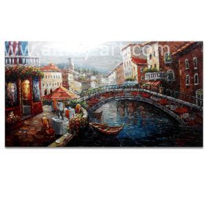 壁のためのナイフの絵画ベニスの景色のキャンバスの芸術の絵画