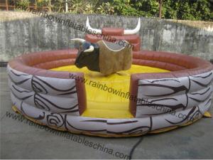 Accettare la fusione su ordinazione eliminano il gioco Bull meccanico gonfiabile del rodeo