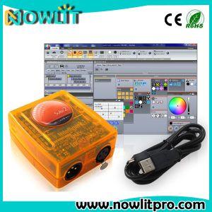 ソフトウェアが付いている3D操作Sunlite2 DMX512のコントローラのSunliteの# 2の段階の照明コントローラ