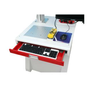 赤い3Dファイバーレーザーの彫版機械