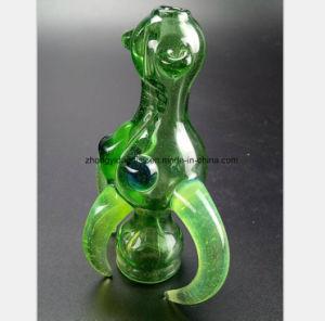 El verde el hábito de fumar tabaco de pipa de bocina de reciclaje de agua