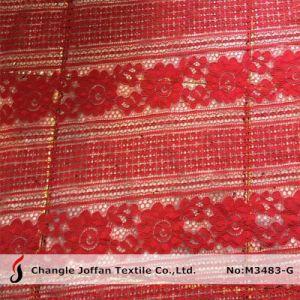 La moda el bordado de encaje de algodón tejido prenda accesorios (M3483-G)