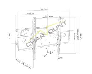 텔레비젼 벽 마운트 (CT-WPLB-6002)를 기우는 도매 제품