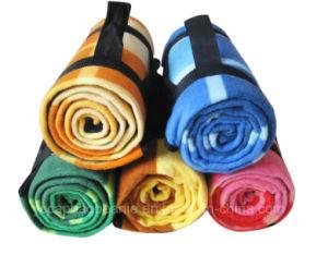 100%полиэстер рекламных полярных ткань из микроволокна для пикников и подкладка из флиса офсетного полотна