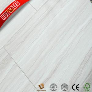 Hecho en alemán piso laminado roble blanco V borde impreso