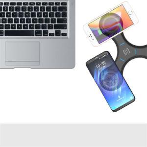 Precio al por mayor soporte de teléfono móvil de alta velocidad inalámbrico inalámbrico portátil cargador cargador para teléfono móvil