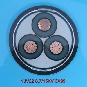 33kv XLPE cobre Cabo de alimentação de 3 núcleos