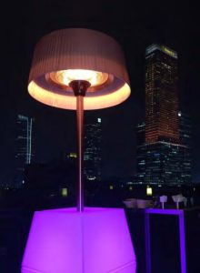 Design elegante de tubos coloridos de LED com controlo remoto