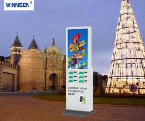 Münze Bill bedient, anrechenbarer Digitalsignage-Ladestation für Park-Einkaufszentrum-Bibliothek bekanntmachend