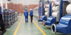 産業広い高Solid-Liquidの二相流れのためのすべての溶接されたステンレス鋼の版の熱交換器
