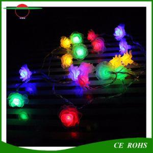 Dekorative Lichter der Solardes feiertags-Licht-Rosen-Blumen-Solarzeichenkette-Licht-7m Baum-50LEDs imprägniern Solar-LED feenhaftes Licht des Rosengarten-im Freienweihnachten
