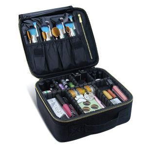 Cas de maquillage de Voyage Sac de maquillage cosmétiques organisateur professionnel de boîtes de maquillage (violet)