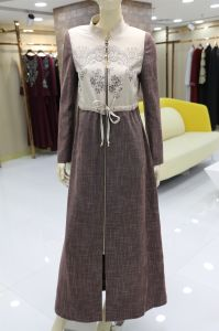 d257ba64a8ba Vestiti islamici eleganti del maxi cappotto musulmano della tunica di  stampa di alta qualità